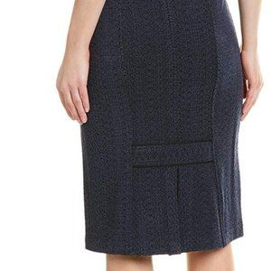 🎬✨Nanette Lepore Textured Navy Skirt